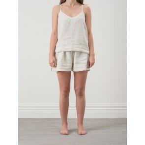 Pinstripe Linen Shorts