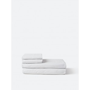 Pinstripe Organic Cotton Fitted Sheet