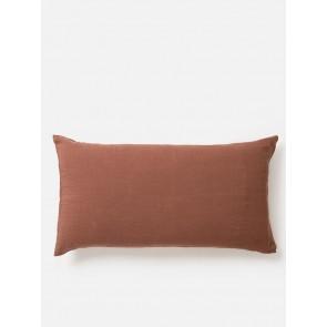 100% Linen Pillowcase Pair Plum - Lodge Size