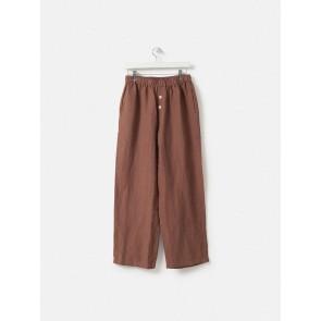 100% Linen PJ Pants - Plum