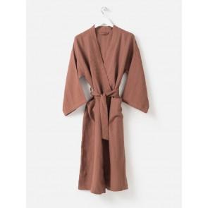 100% Linen Robe - Plum