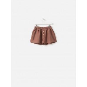 100% Linen PJ Shorts - Plum