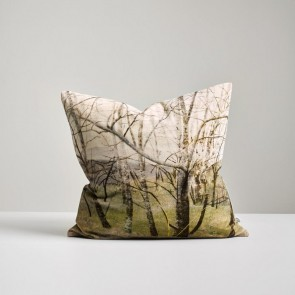 Woodland Trees Velvet Cushion