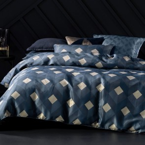 Everett Duvet Cover Set by Savona - Navy