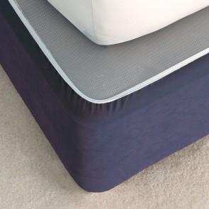 Suede Valance Bedwrap by Savona - Navy