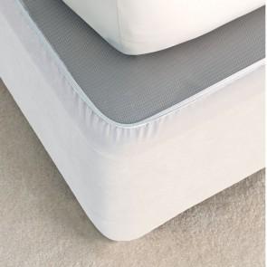 Suede Valance Bedwrap by Savona - White