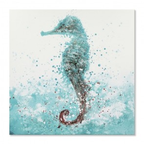 Oil Painting Abstract Seahorse