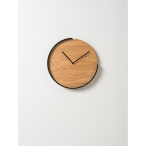 Segment Clock Oak/Black