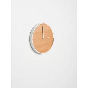 Segment Clock Oak/White