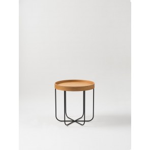 Segment Side Table - Natural Oak/Black