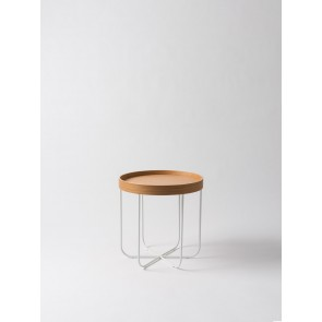 Segment Side Table - Natural Oak/White