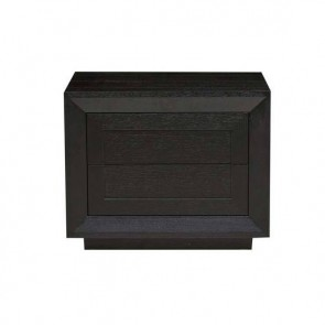 Austin Low Bedside - Matt Black Oak