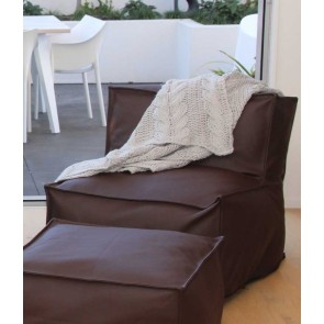 Sierra Bean Bag & Ottoman by MM Linen - Chocolate