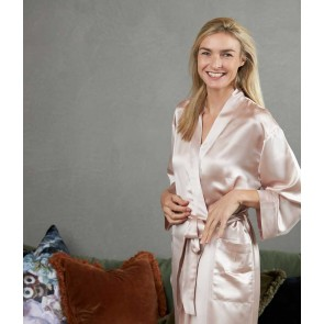 Silk Robe by MM Linen - Blush
