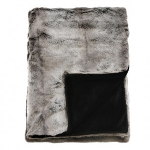Heirloom Silver Marten Faux Fur Throw