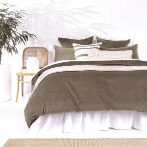 Sloane Duvet Cover Set by Bambury - Olive