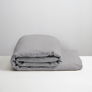 100% Linen Duvet Cover Smoke - NZ Made