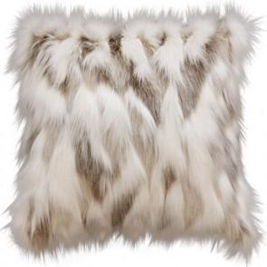 Heirloom Snowshoe Hare Square Cushion