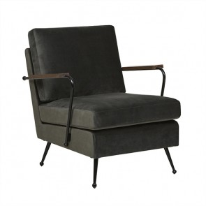 Juno Conrad Sofa Chair - Black/Khaki
