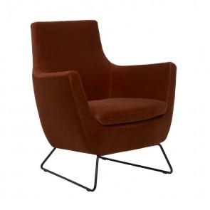 Juno Dakota Sofa Chair Cinnamon Velvet