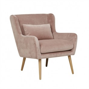 Sketch Nelly Sofa Chair - Nude Velvet