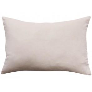 Mulberi Sovereign Velvet/Linen Cushion - Nude