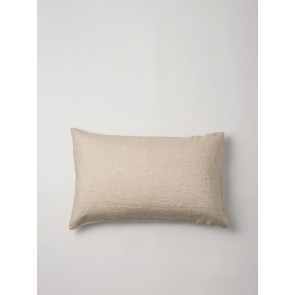 100% Linen Chambray Oatmeal Pillowcase Pair