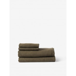 100% Linen Fitted Sheet - Ivy