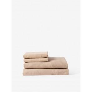 100% Linen Fitted Sheet - Latte