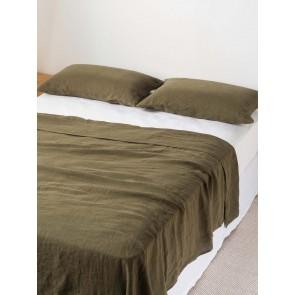 100% Linen Flat Sheet - Ivy