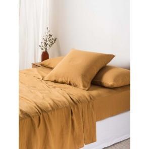 100% Linen Flat Sheet - Miso