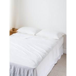 100% Linen Flat Sheet - White