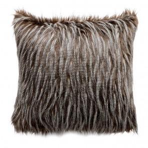 Limon Elmwood Faux Fur Cushion - Speckled Kiwi