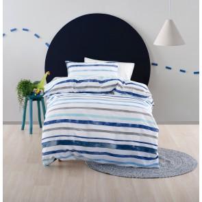 Painter Stripe Kids Duvet Cover Set by Squiggles - Blue