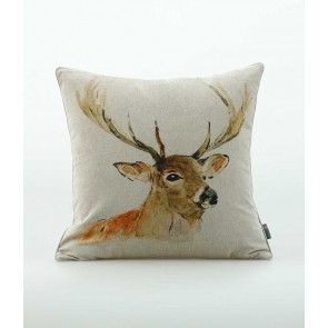 Woodland Print Stag Cushion by MM Linen
