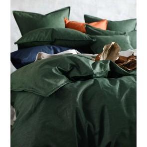 Stitch Duvet Cover Set by MM Linen - Cypress Green
