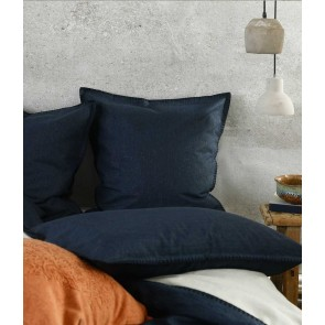 Stitch Navy Euro Pillowcase Pair