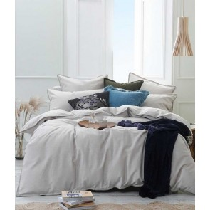 Stitch Duvet Cover Set by MM Linen - Pumice