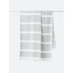 Stripe Organic Cotton Beach Towel Grey - 2 Pack