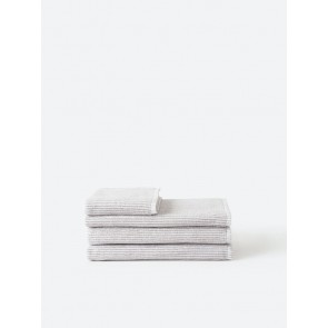 Stripe Organic Cotton Towel Collection - Grey/White