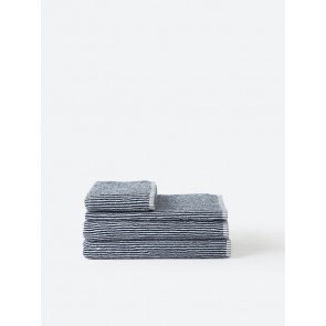 Stripe Organic Cotton Towel Collection - Navy/White Stripe