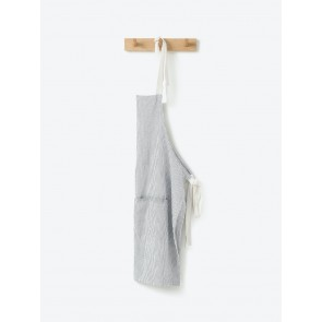 Grey Stripe Washed Cotton Apron - 2 Pack