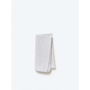 Grey Stripe Washed Cotton Napkin - 8 Pack