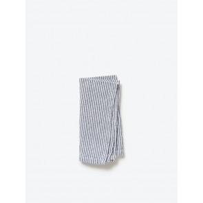 Navy Stripe Washed Cotton Napkin - 8 Pack