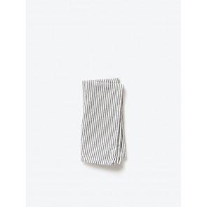 Olive Stripe Washed Cotton Napkin - 8 Pack