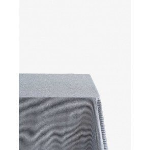 Stripe Washed Cotton Tablecloth - Navy