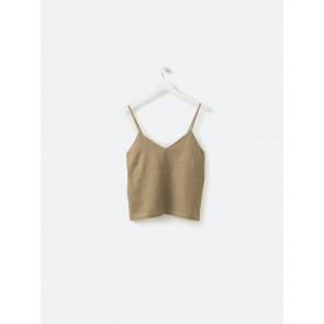 100% Linen Cami - Pickle