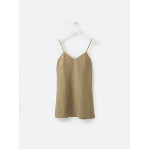 100% Linen Nightie - Pickle
