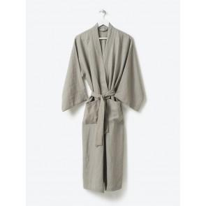 100% Linen Women's Long Robe - Puddle