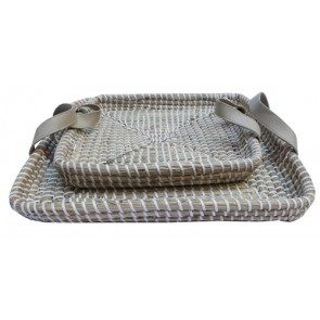Set of 2 Seagrass Trays
